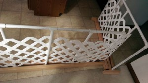 DIY dog gate in my kitchen.