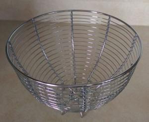 Empty metal bowl.