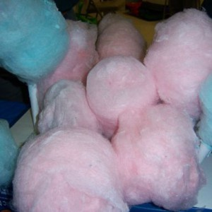 Pink and blue cotton candy.