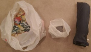 Three bags of junk in my basement