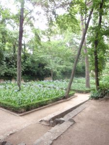 Romantic Garden at the Parc del Laberint d'Horta in Barcelona