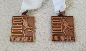 Bronze medals from Toledo Frogtown regatta.