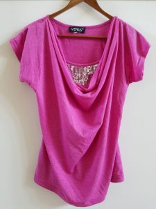 Pink blouse with sequins