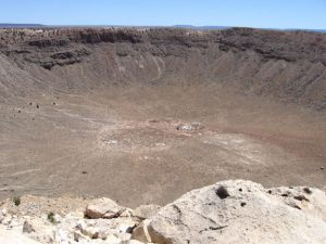Photo of Meteor Crater in Arizona.