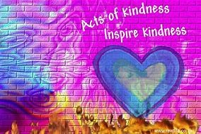 """Word-art that says """"Acts of kindness inspire kindness."""""""
