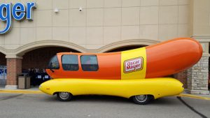 Oscar Mayer wienermobile at Kroger.