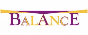 "Word-art that says ""Balance."""