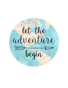 """Word-art that says """"Let the adventure begin."""""""