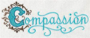 """Word-art that says """"Compassion."""""""