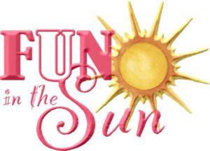 """Word-art that says """"Fun in the sun."""""""